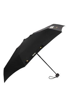 Женский складной зонт MOSCHINO черного цвета, арт. 8014-SUPERMINI | Фото 2