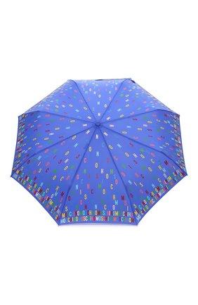Женский складной зонт MOSCHINO голубого цвета, арт. 8017-0PENCL0SE | Фото 1
