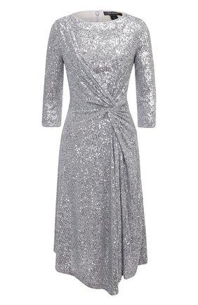 Женское платье с пайетками ST. JOHN серебряного цвета, арт. K120WE1 | Фото 1