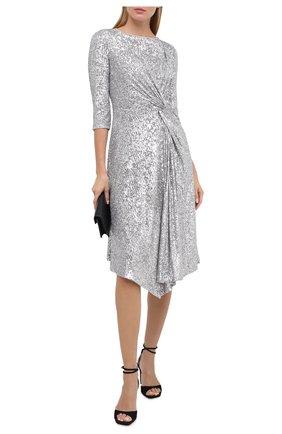Женское платье с пайетками ST. JOHN серебряного цвета, арт. K120WE1 | Фото 2