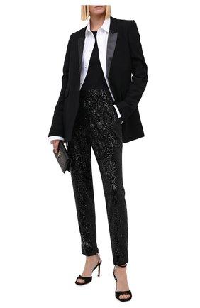 Женские брюки с пайетками ST. JOHN черного цвета, арт. K820WT1   Фото 2