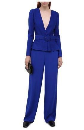 Женские шелковые брюки ST. JOHN синего цвета, арт. K830W71   Фото 2