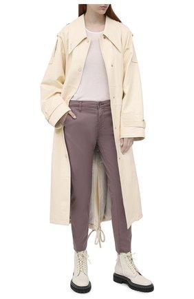 Женские хлопковые брюки AG розового цвета, арт. ART1613/SLRAVE | Фото 2