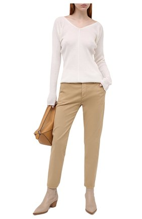 Женские хлопковые брюки AG бежевого цвета, арт. ART1613/SLSPAL | Фото 2