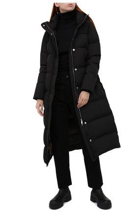 Женский пуховик MOORER черного цвета, арт. CASSANDRA-STP/A20D210ST0P   Фото 2