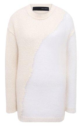 Женский шерстяной свитер ISABEL BENENATO белого цвета, арт. DK22F20 | Фото 1
