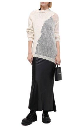 Женский шерстяной свитер ISABEL BENENATO белого цвета, арт. DK22F20 | Фото 2