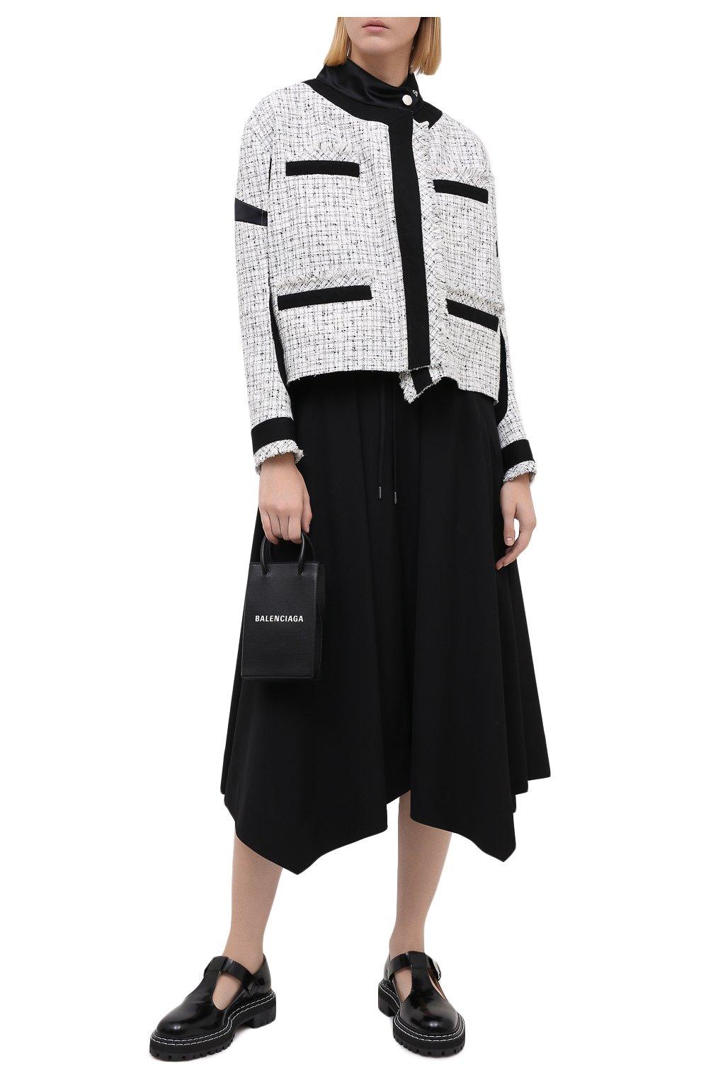 Женская шерстяная юбка ISABEL BENENATO черного цвета, арт. DW11F20 | Фото 2