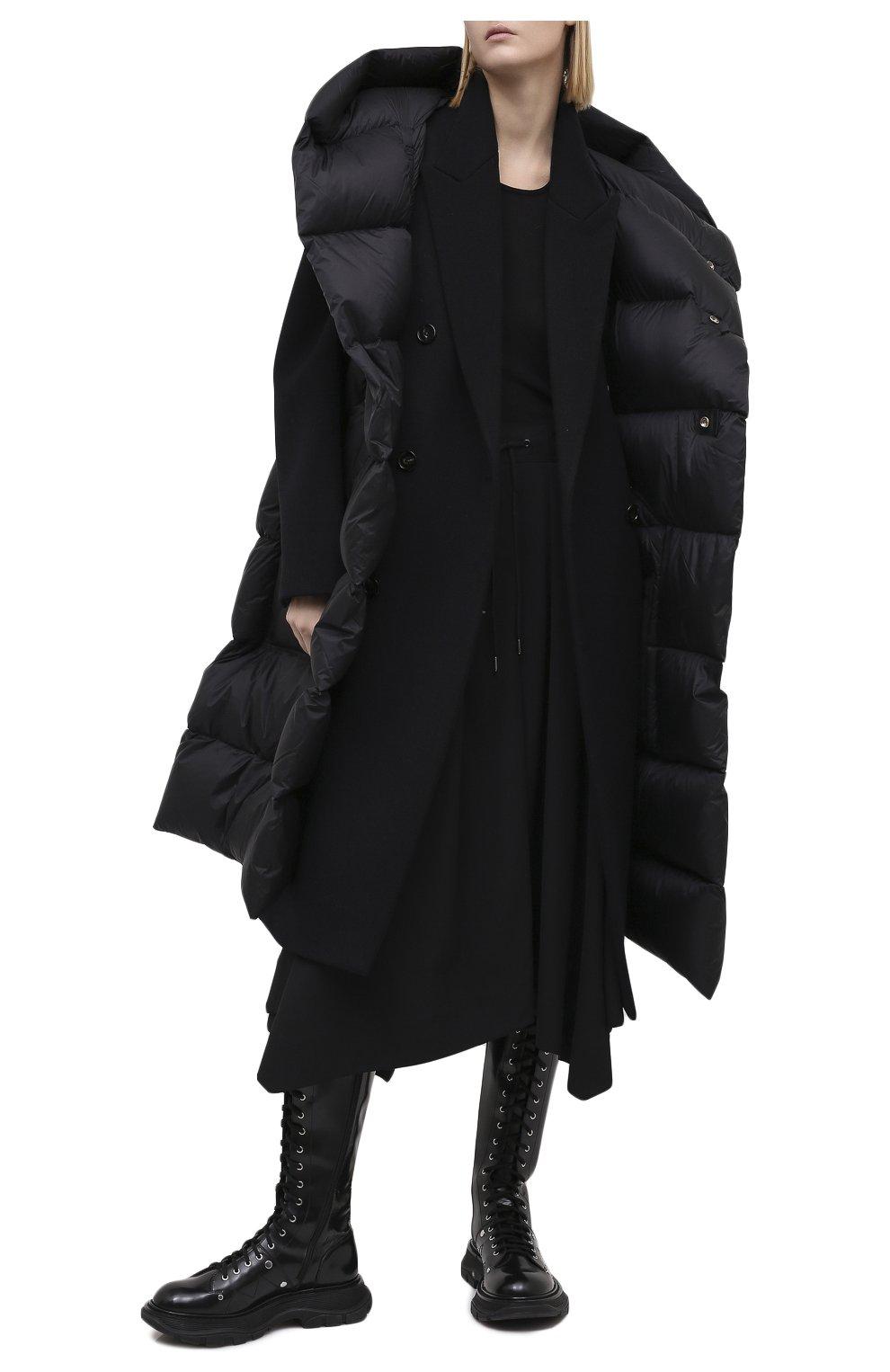 Женская шерстяная юбка ISABEL BENENATO черного цвета, арт. DW11F20 | Фото 3