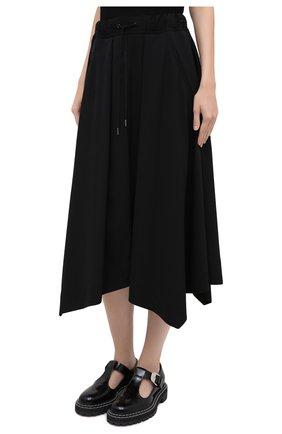 Женская шерстяная юбка ISABEL BENENATO черного цвета, арт. DW11F20 | Фото 4