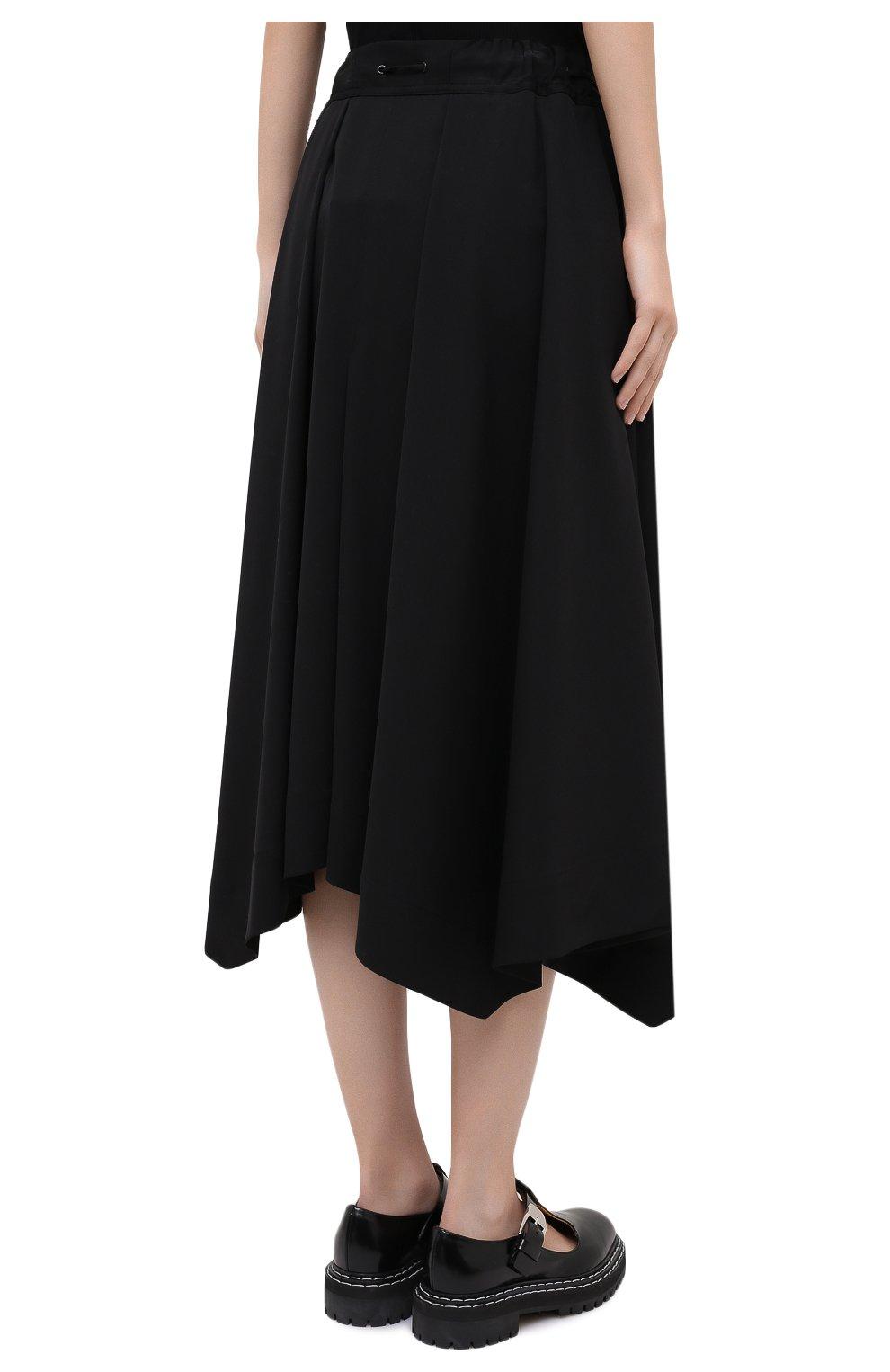 Женская шерстяная юбка ISABEL BENENATO черного цвета, арт. DW11F20 | Фото 5