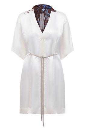 Женское платье из вискозы RICK OWENS белого цвета, арт. RP20F2563/KL   Фото 1