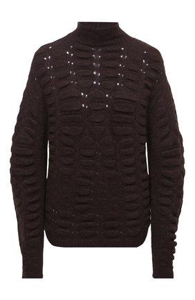 Женский свитер RICK OWENS коричневого цвета, арт. RP20F2677/KB | Фото 1