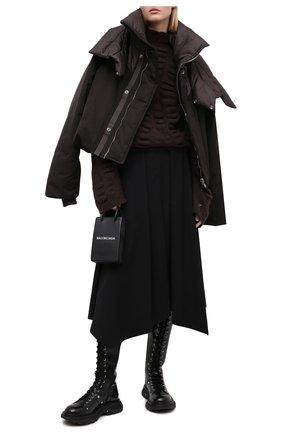 Женский свитер RICK OWENS коричневого цвета, арт. RP20F2677/KB | Фото 2