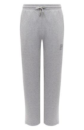 Женские хлопковые брюки OPENING CEREMONY серого цвета, арт. YWCH001E20FLE001 | Фото 1