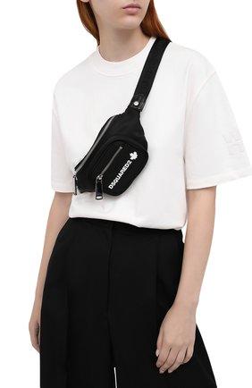 Женская поясная сумка bum mini DSQUARED2 черного цвета, арт. BBW0022 11703258 | Фото 2
