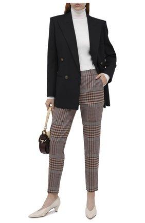 Женские шерстяные брюки LORO PIANA коричневого цвета, арт. FAL2992   Фото 2