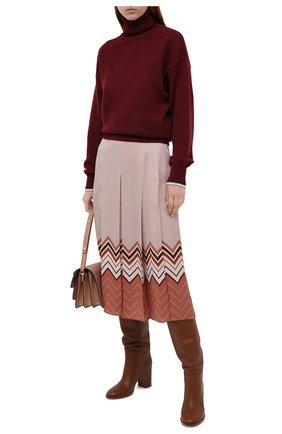 Женская шелковая юбка LORO PIANA розового цвета, арт. FAL3455 | Фото 2