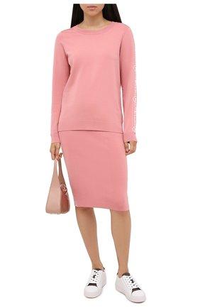 Женский пуловер MICHAEL MICHAEL KORS розового цвета, арт. MU06PC0BVC   Фото 2