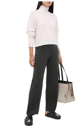 Женские кашемировые брюки LE KASHA хаки цвета, арт. 0TTAWA0 | Фото 2