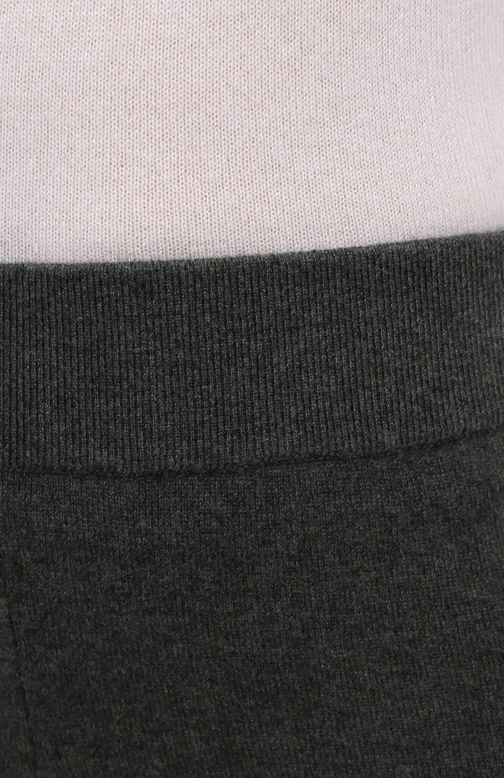 Женские кашемировые брюки LE KASHA хаки цвета, арт. 0TTAWA0   Фото 6 (Материал внешний: Шерсть, Кашемир; Длина (брюки, джинсы): Стандартные; Женское Кросс-КТ: Брюки-одежда; Силуэт Ж (брюки и джинсы): Прямые; Кросс-КТ: Трикотаж; Стили: Минимализм, Кэжуэл)