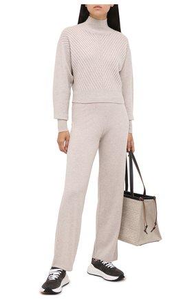 Женские кашемировые брюки LE KASHA светло-бежевого цвета, арт. 0TTAWA0 | Фото 2