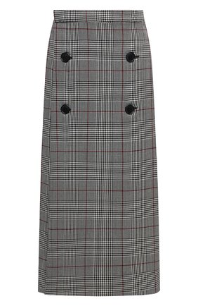 Женская шерстяная юбка VETEMENTS коричневого цвета, арт. WAH21SK112 1206/BR0WN CHECK/BR0WN CHECK   Фото 1