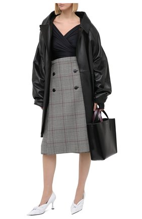 Женская шерстяная юбка VETEMENTS коричневого цвета, арт. WAH21SK112 1206/BR0WN CHECK/BR0WN CHECK   Фото 2