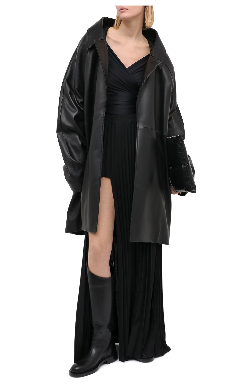 Женская юбка-макси VETEMENTS черного цвета, арт. WAH21SK109 1314/BLACK   Фото 2
