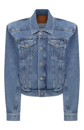 Женская джинсовая куртка VETEMENTS голубого цвета, арт. WAH21JA073 2803/MEDIUM BLUE | Фото 1