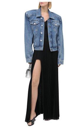 Женская джинсовая куртка VETEMENTS голубого цвета, арт. WAH21JA073 2803/MEDIUM BLUE | Фото 2