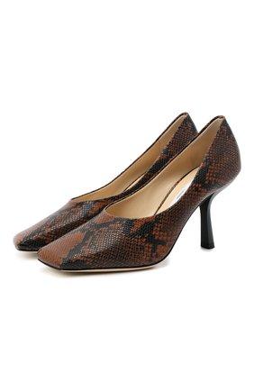 Женская кожаные туфли marcela 85 JIMMY CHOO коричневого цвета, арт. MARCELA 85/NKE | Фото 1