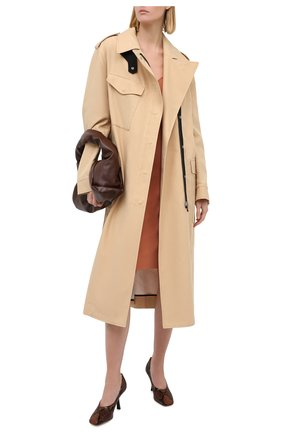 Женская кожаные туфли marcela 85 JIMMY CHOO коричневого цвета, арт. MARCELA 85/NKE | Фото 2