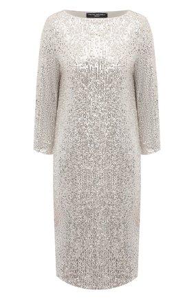 Женское платье с пайетками PIETRO BRUNELLI серебряного цвета, арт. AS0316/PLP810 | Фото 1