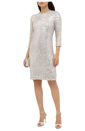 Женское платье с пайетками PIETRO BRUNELLI серебряного цвета, арт. AS0316/PLP810 | Фото 2
