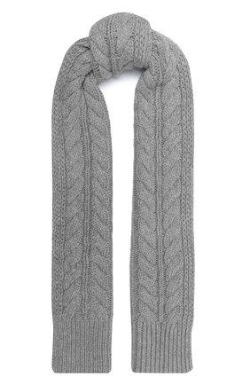 Женский шарф из шерсти и вискозы WOOLRICH серого цвета, арт. CFWWAC0083FR/UF0220   Фото 1