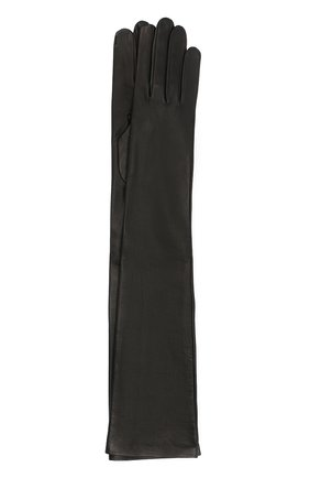Женские кожаные перчатки DRIES VAN NOTEN черного цвета, арт. 202-10102-101 | Фото 1