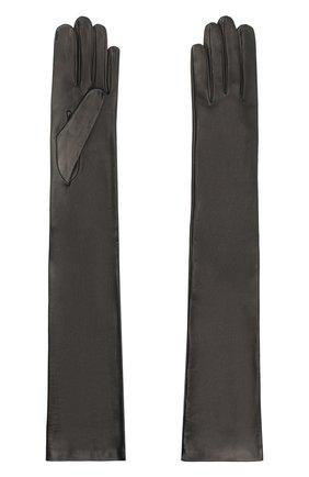 Женские кожаные перчатки DRIES VAN NOTEN черного цвета, арт. 202-10102-101 | Фото 2