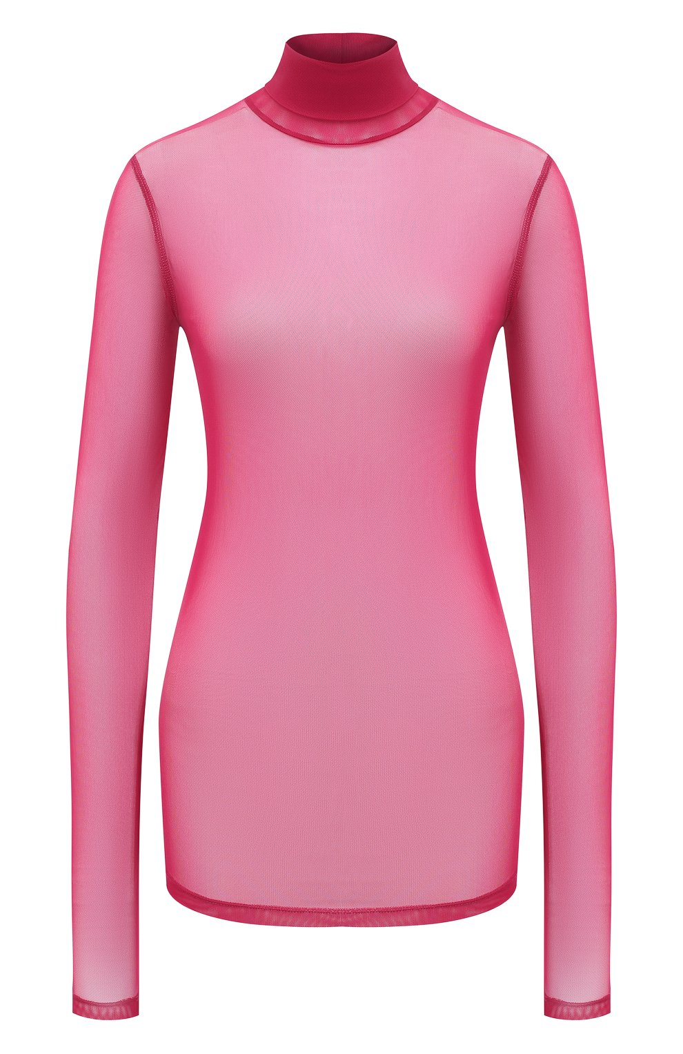 Женская водолазка DRIES VAN NOTEN фуксия цвета, арт. 202-11146-1202 | Фото 1 (Женское Кросс-КТ: Водолазка-одежда; Рукава: Длинные; Материал внешний: Синтетический материал; Длина (для топов): Удлиненные)