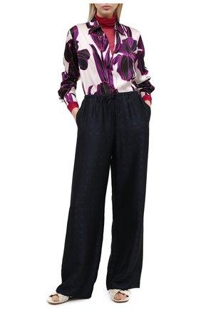 Женская водолазка DRIES VAN NOTEN фуксия цвета, арт. 202-11146-1202 | Фото 2 (Женское Кросс-КТ: Водолазка-одежда; Рукава: Длинные; Материал внешний: Синтетический материал; Длина (для топов): Удлиненные)