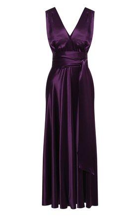 Женское платье из вискозы DRIES VAN NOTEN фиолетового цвета, арт. 202-18615-1042 | Фото 1