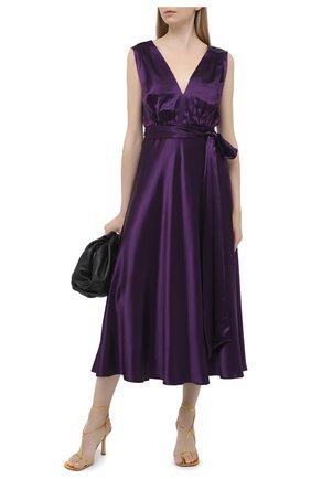 Женское платье из вискозы DRIES VAN NOTEN фиолетового цвета, арт. 202-18615-1042 | Фото 2