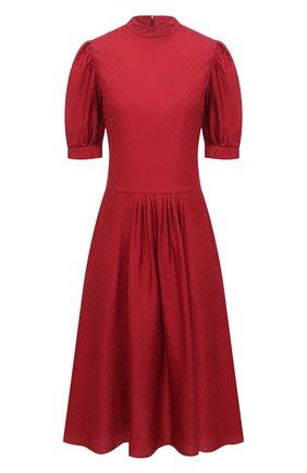 Женское шелковое платье GIORGIO ARMANI красного цвета, арт. 0WHVA06D/T01V0 | Фото 1