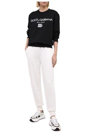 Женская хлопковый свитшот DOLCE & GABBANA черного цвета, арт. F9I50Z/G7XJQ | Фото 2