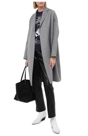 Женское шерстяное пальто STELLA MCCARTNEY серого цвета, арт. 573928/SPB05 | Фото 2