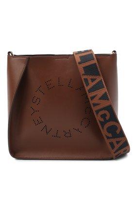 Женская сумка stella logo mini STELLA MCCARTNEY коричневого цвета, арт. 700073/W8542   Фото 1