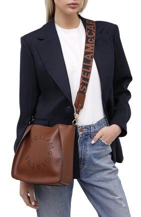 Женская сумка stella logo mini STELLA MCCARTNEY коричневого цвета, арт. 700073/W8542   Фото 2
