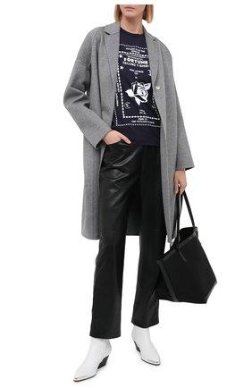 Женская хлопковая футболка STELLA MCCARTNEY темно-синего цвета, арт. 600422/S0W15 | Фото 2