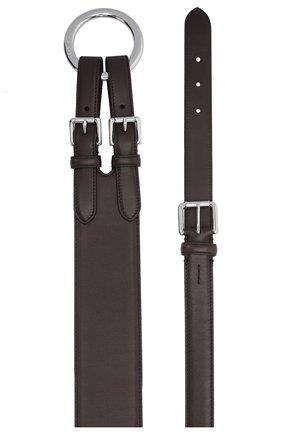 Женский кожаный ремень RALPH LAUREN темно-коричневого цвета, арт. 408825148 | Фото 2