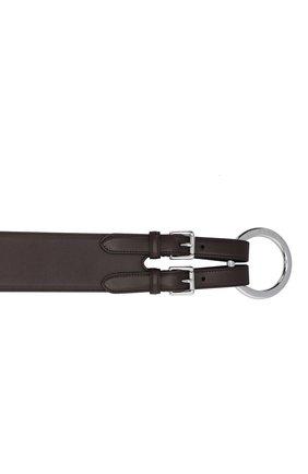 Женский кожаный ремень RALPH LAUREN темно-коричневого цвета, арт. 408825148 | Фото 3
